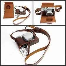 PU Leather Camera Bag Cover Case For Fujifilm x100 x100s x100m x100t Bottom Open