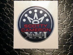 New Scotty Cameron Member XXI Sticker