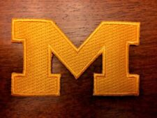 University Michigan Wolverines Embroidered Iron On Sew Patch  USA SELLER 3 inch