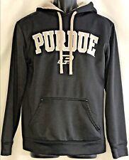 Knight Apparel Men Small Purdue University Hooded Sweatshirt Black Boilermakers