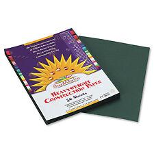 Sunworks Construction Paper 58 lbs. 9 x 12 Dark Green 50 Sheets/Pack 7803