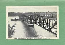 GRAND GLAIZE BRIDGE In OSAGE BEACH, MO On Vintage Unused Postcard