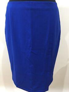 Moda International For Victoria's Secret Vintage Retro Blue Skirt Split Size 10