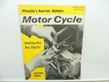 Jan 1964 Motorcycle Magazine Willoughby Exeter Trial Dragon Accessories L10859
