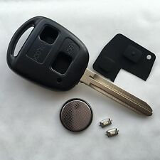 Fits Toyota 2 button remote key fob case TOY43 blade Yaris Corolla RAV4 Hiace