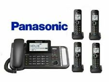 Panasonic 2 Line Expandable Corded 4 Cordless Link2Cell KX-TG9581B +3 KX-TGA950B