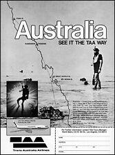 1981 Scuba Diving Trans Australia Airlines TAA Tours retro photo print ad ads73