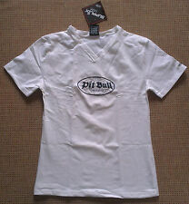 Pit Bull Germany T-Shirt Shirt weiß Pit Bull-Logo + Patch Gr. M Neu