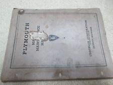 1935 Plymouth Master Maintenance Manual Original