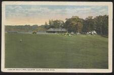 1919 POSTCARD CANTON OH/OHIO GOLF LINKS & COUNTRY CLUB HOUSE