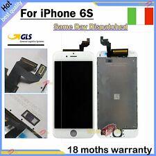 SCHERMO PER APPLE IPHONE 6S BIANCO TOUCH SCREEN LCD DISPLAY RETINA VETRO FRAME