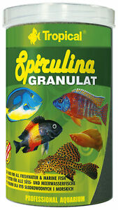 Tropical Spirulina Granulate 1000 ML Algae For Shrimp Crustaceans Livebearers