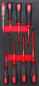 AMPRO CARD 8PC ELECTRICAL SCREWDRIVER TS42193