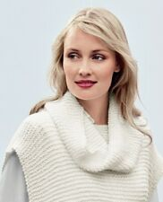 KNITTING PATTERN FOR LADIES TUNIC/PONCHO TOP & SEPERATE SNOOD.MULTI SIZE TOP.