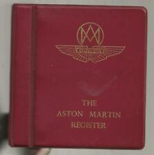 More details for the aston martin register - 1979 - cars, owners, members, registration numbers