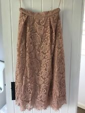 M&S dusty pink lace skirt size 10