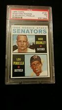 1964 Topps MLB RC Stars Senators Mike Brumley & Lou Pinniela PSA 7 NM #167
