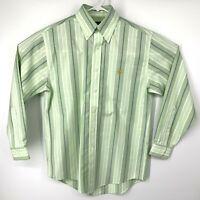 Brooks Brothers 346 Non Iron Supima Cotton Dress Shirt Green White Purple Small