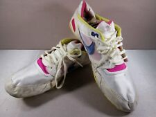 VINTAGE 70'S 80'S NIKE TRACK RUNNING SPIKES SHOES WHITE MEN'S Size US 11
