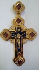 Orthodox Cross pectoral based on Faberge Gold Plated Engolpion Pendant Bishop