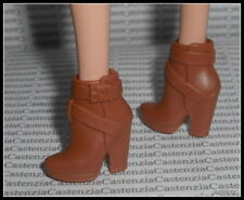 SHOES BARBIE SILKSTONE MODEL MUSE SIGNATURE FAN CLUB BROWN BUCKLE BOOTS HEELS