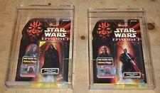 Darth Maul AFA graded set of 2 two figures Star wars