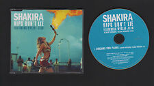 CD SINGLE PROMO SHAKIRA HIPS DON'T LIE  (FEAT WYCLEFF JEAN) / DREAMS FOR PLANS