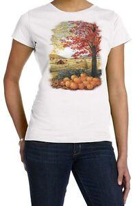 Autumn Splendor Shirt, Fall Scene - Pumpin Patch - Barn - Fall Leaves T Shirt