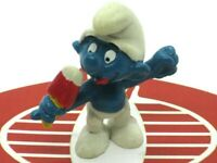 SMURFS Figurine Smurf Eating Ice Cream PVC Figure SCHEILCH PEYO 1979