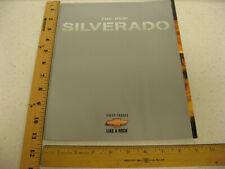 1999 99 Chevrolet Chevy Silverado Trucks Sales Brochure Literature 54 Pages