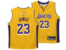 Los Angeles Lakers Lebron James NBA Basketball Child Yellow Jersey Kids