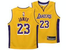 Лос-Анджелес Лейкерс Леброн Джеймс баскетбол НБА ребенка желтый джерси Kids