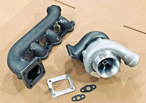 Turbo + T4 Manifold FOR Silverado Sierra Turbocharger Vortec LS 4.8 5.3 6.0 6.2