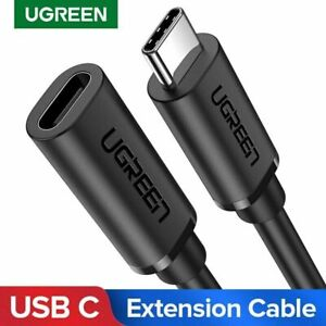 Ugreen USB C Extension Cable Extender Cord Type C Thunderbolt 3 For MacBook Pro