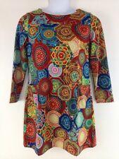 Womens Tingaofuyuan Casual Above Knee Colorful Geometric Dress Long Sleeve 16