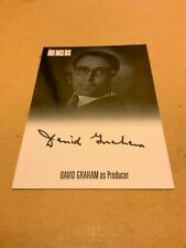 THE COMPLETE AVENGERS SERIES 1 DAVID GRAHAM  AVDG. AUTOGRAPH  CARD