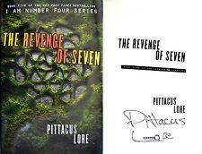 Pittacus Lore SIGNED Revenge of Seven 1st/1st + Photos! Book 5 of I Am Number 4