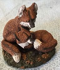 Pair of Foxes Cuddled up Together Figurine by N N Deaton #2