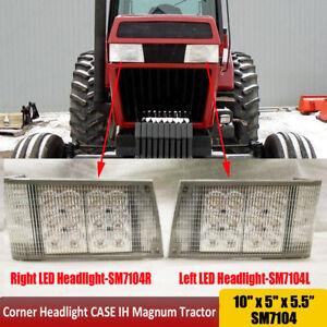 For Case IH 71-89 Series Magnum LED LH and RH Front Hood Light - Hi/Lo Beam 12V