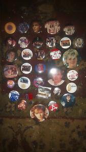 DURAN DURAN Lot of 33  Vintage Buttons Enamel Pins