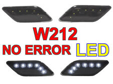 LED Black Bumper Side Marker Light For 2010-13 Mercedes Benz W212 E Class 4D/5D