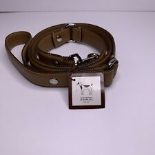 Coach Dog Leash Leather Large Animal Pet Lead Saddle Brown