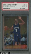 1996-97 Topps Chrome Stephon Marbury Timberwolves RC Rookie PSA 9 MINT