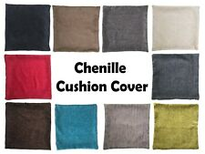 SUPER SOFT CHENILLE CUSHION COVER WITH INVISIBLE ZIP
