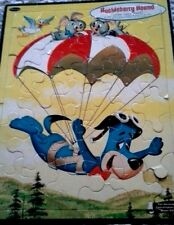 "Vintage Child HUCKLEBERRY HOUND PUZZLE Frame Tray 1961 No.4420 Hanna Barbera 14"""