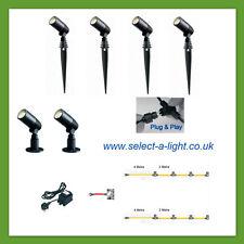 Techmar Garden Spot Lights ALDER (6 Set) Plug & Play = 10 metre Dual Leg