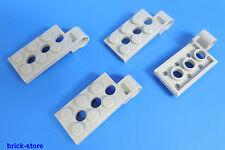 LEGO Nr-4646513 / 2x4 Plaque avec Trou d'épingle gris clair / 4 Pièces