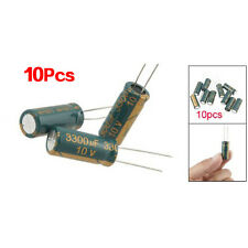 10Pcs 10V 3300UF Motherboard Electrolytic Capacitor Radial BTSZUK