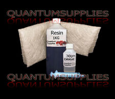 Fibre de verre 1 m ² kit - 1mx450 GM 1kg de résine 30ml catalyseur 10ml SY matériaux
