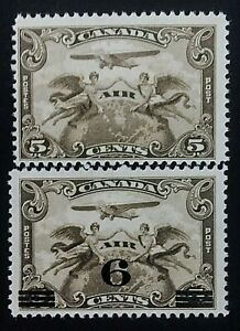 Canada's First Airmail Stamps, C1 (1928) & C3 (1932)